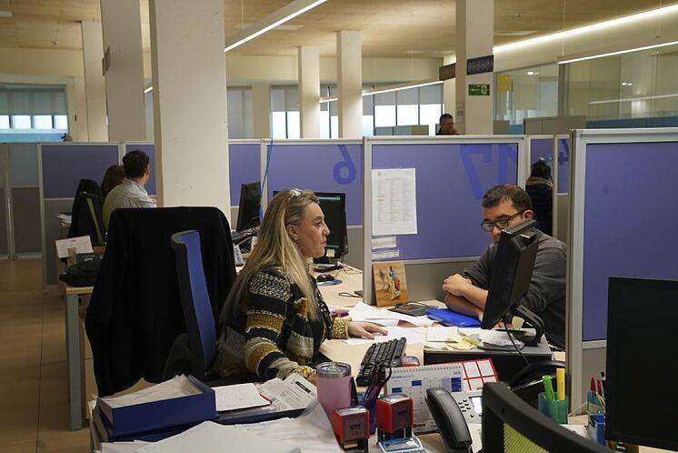 Una oficina de Lanbide en Vitoria.