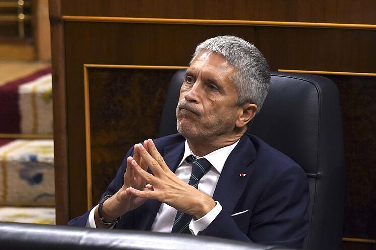 Le ministre de l'Intérieur Fernando Grande Marlaska, lors d'une session