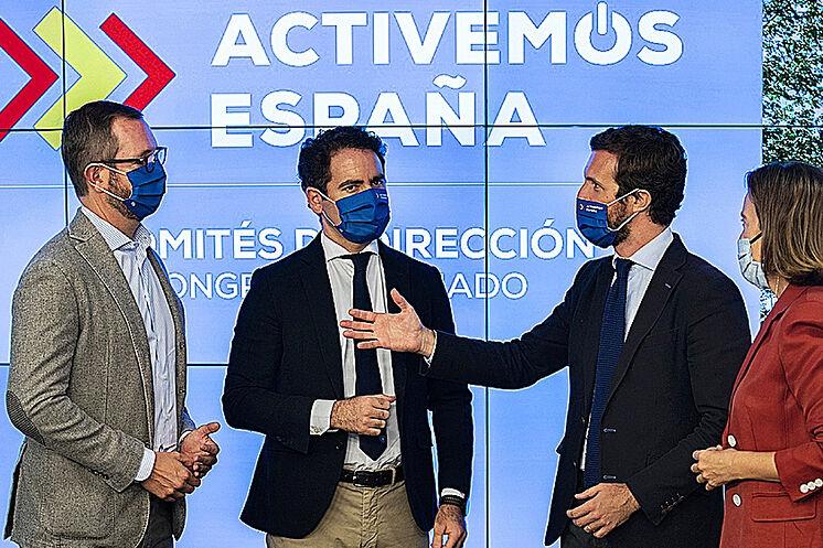 Pablo Casado, rencontre hier avec Javier Maroto, Teodoro G