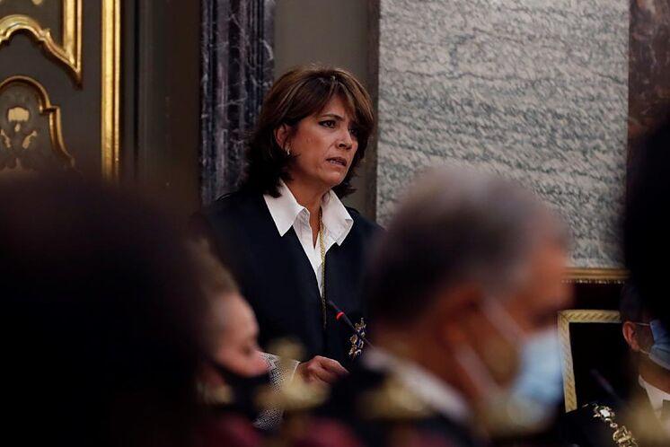 Dolores Delgado, lors de la cérémonie d'ouverture d'un