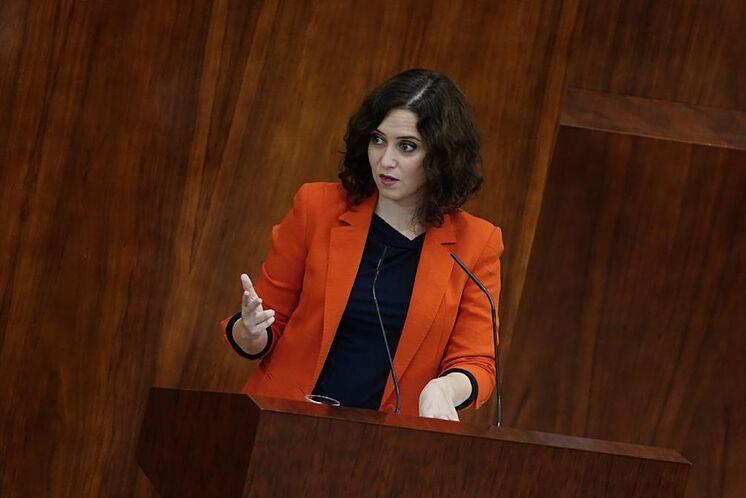 La présidente de la Communauté de Madrid, Isabel D