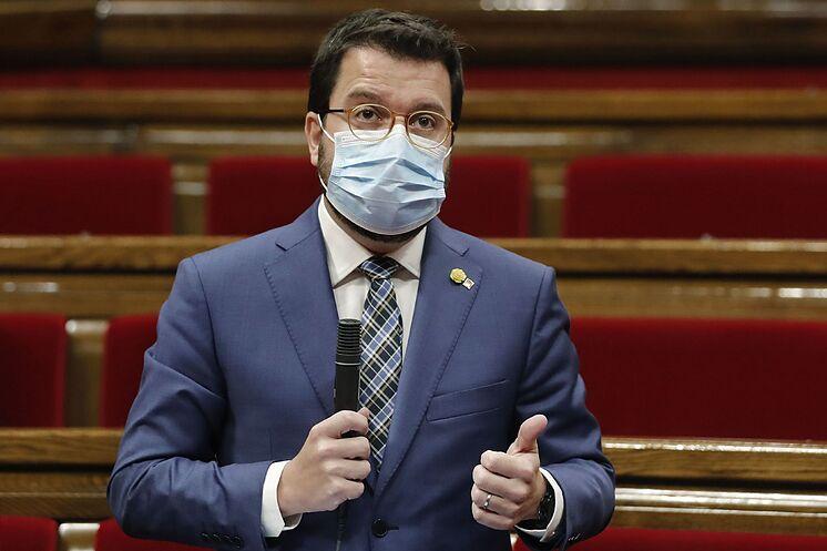 Le président par intérim, Pere Aragon