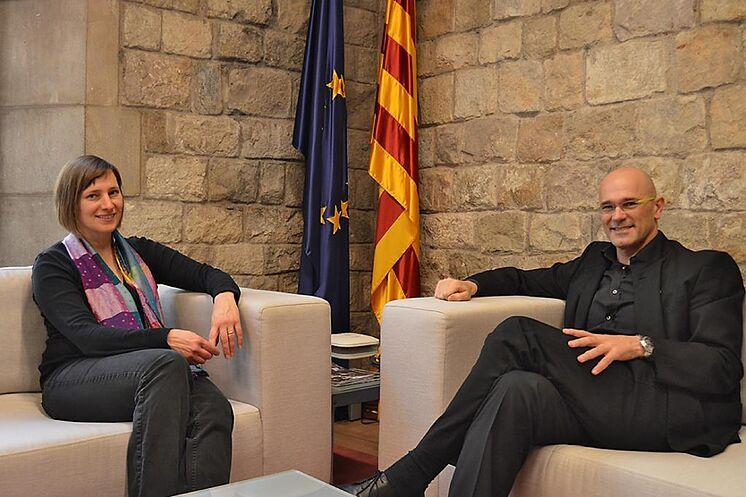 Kapretz avec l'ancien conseiller Romeva en 2016.