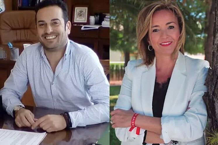 Les maires d'El Verger et d'Els Poblets, de Ximo Coll et de Carolina Vives.