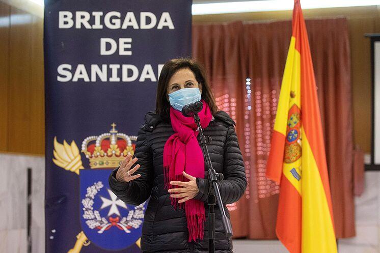 Le ministre de la Défense, Margarita Robles, visite la brigade de ...