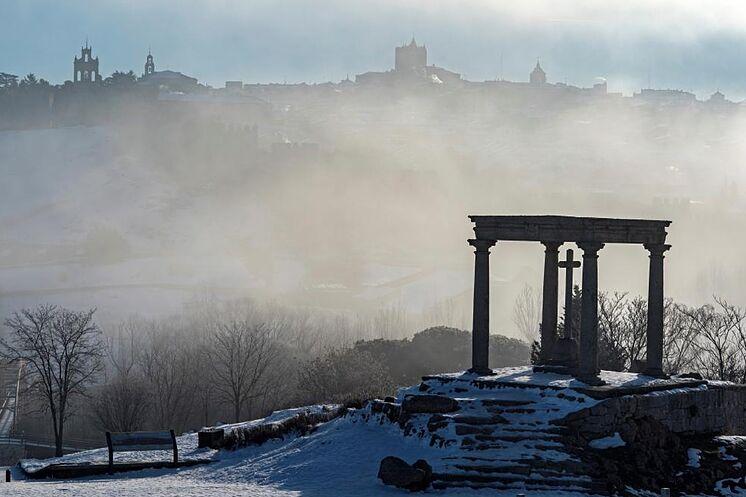 Vue de la couverture de brouillard