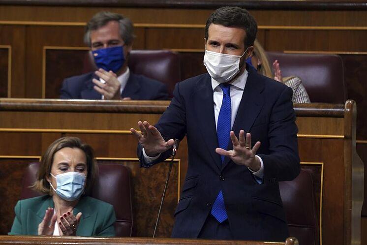 Pablo Casado, pendant la session
