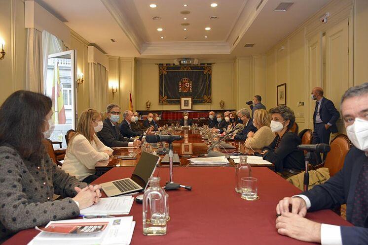 Session plénière du Conseil général de la magistrature.