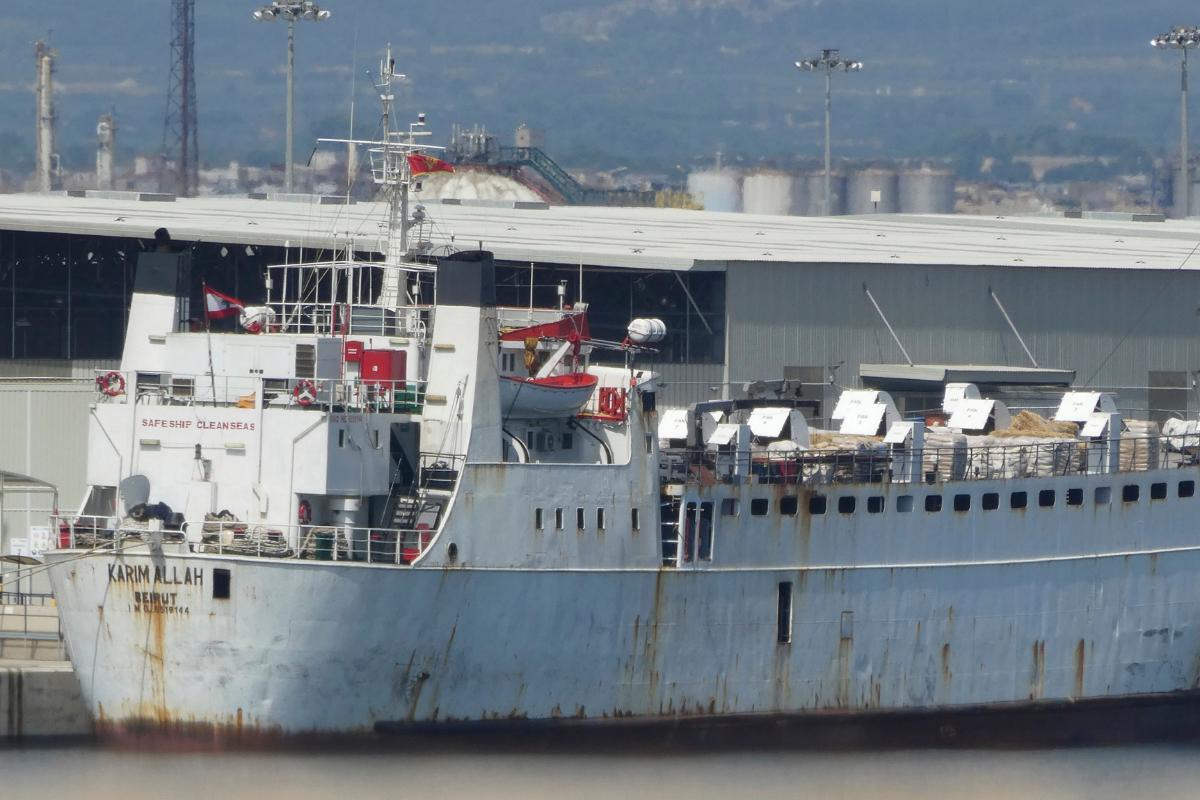 Le navire Karim Allah, en août 2020 à Tarragone.