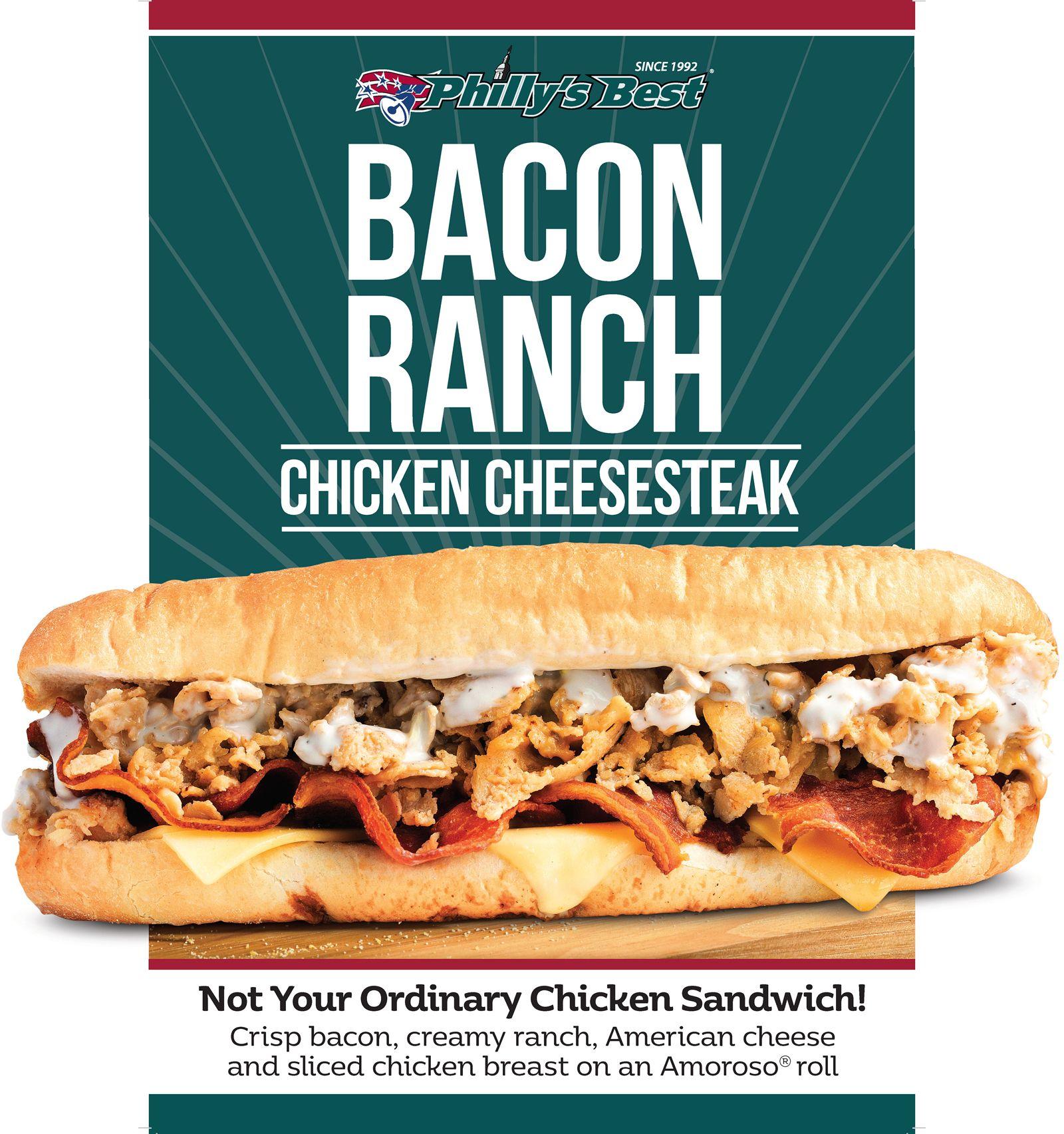 Philly's Best lance un nouveau cheesesteak de poulet ranch au bacon