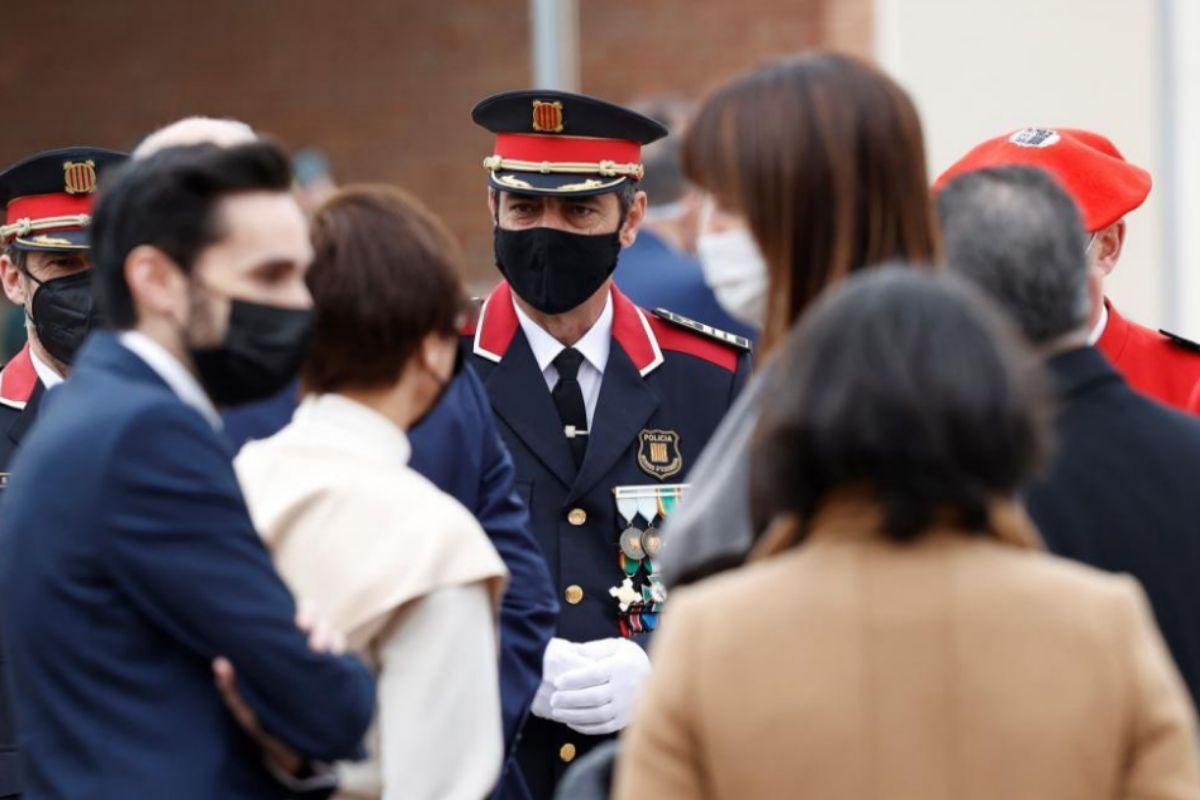 Major Trapero, lors de l'acte à l'académie de la Garde civile de Valdemoro (Madrid).
