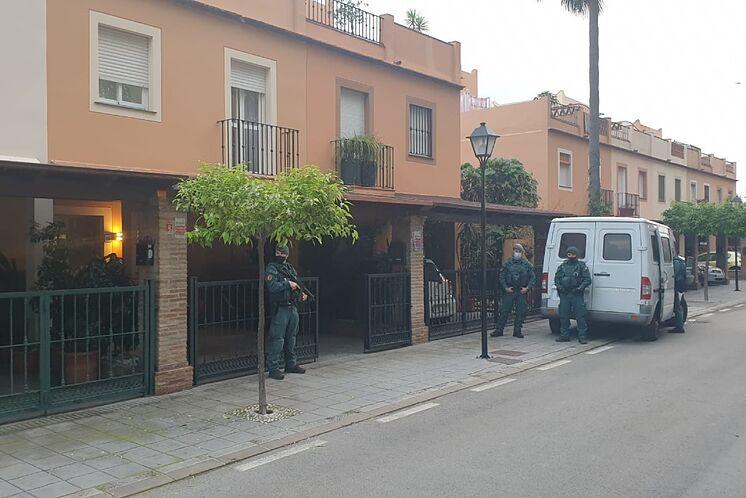 Image du dispositif policier déployé sur la Costa del Sol ...