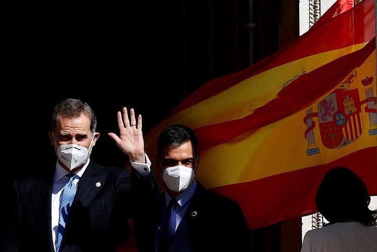 Le roi Felipe VI et le président du gouvernement, Pedro S