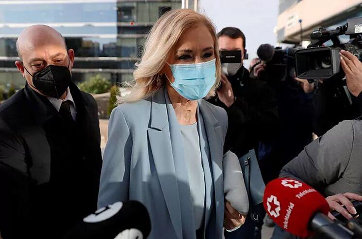 Cristina Cifuentes, à son arrivée à la Cour provinciale pendant la ...