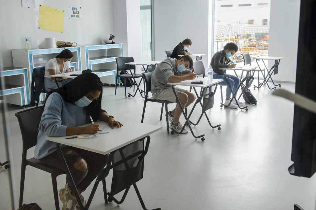Les étudiants d'un centre de Pa