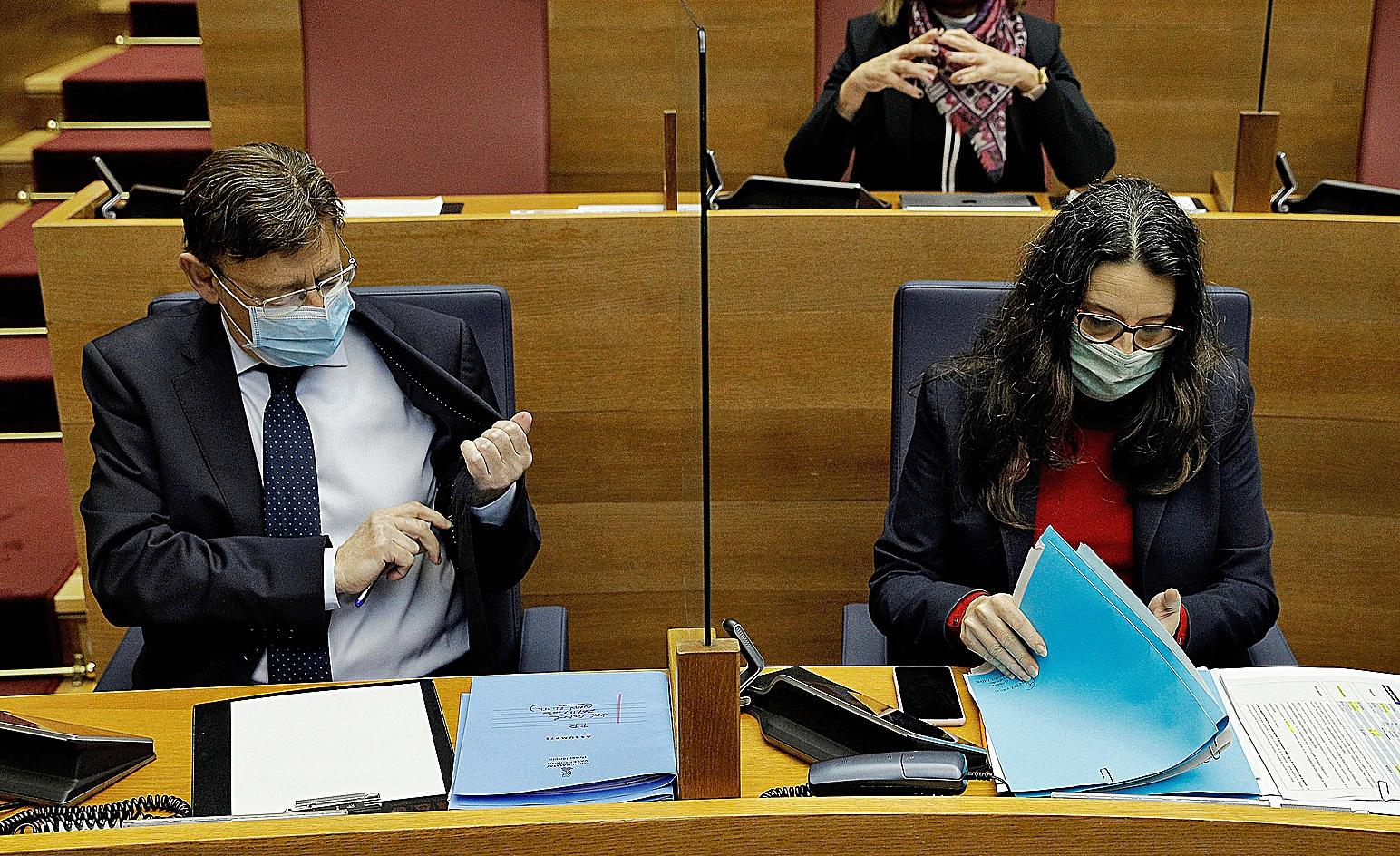 Ximo Puig et le vice-président valencien, M