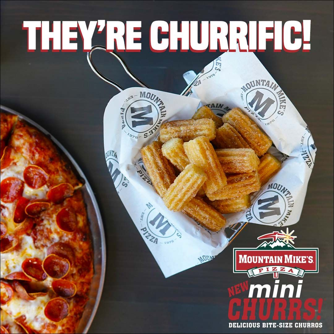 Mountain Mike's Pizza ajoute de délicieux churros en bouchées au menu pour une durée limitée
