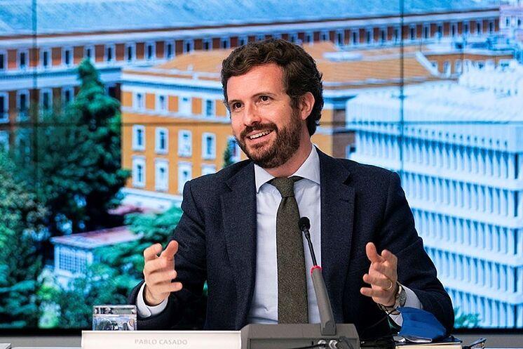 Le président du Parti populaire, Pablo Casado.