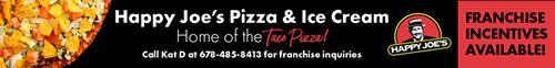 Pizza et crème glacée Happy Joe's