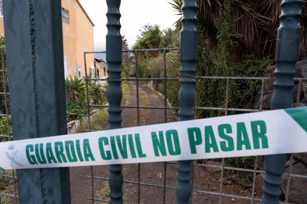 Maison de la personne disparue scellée par la Garde civile.