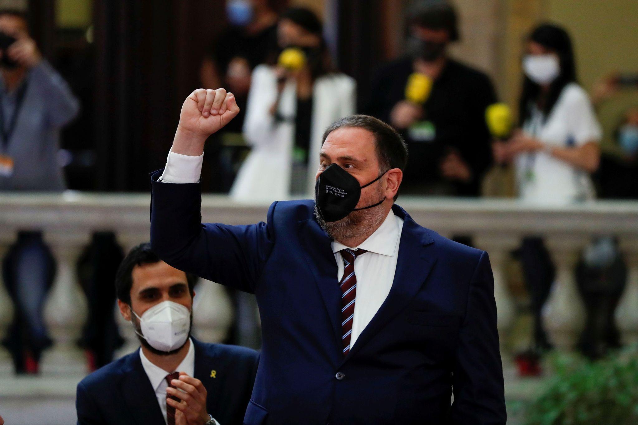Oriol Junqueras, au Parlement.