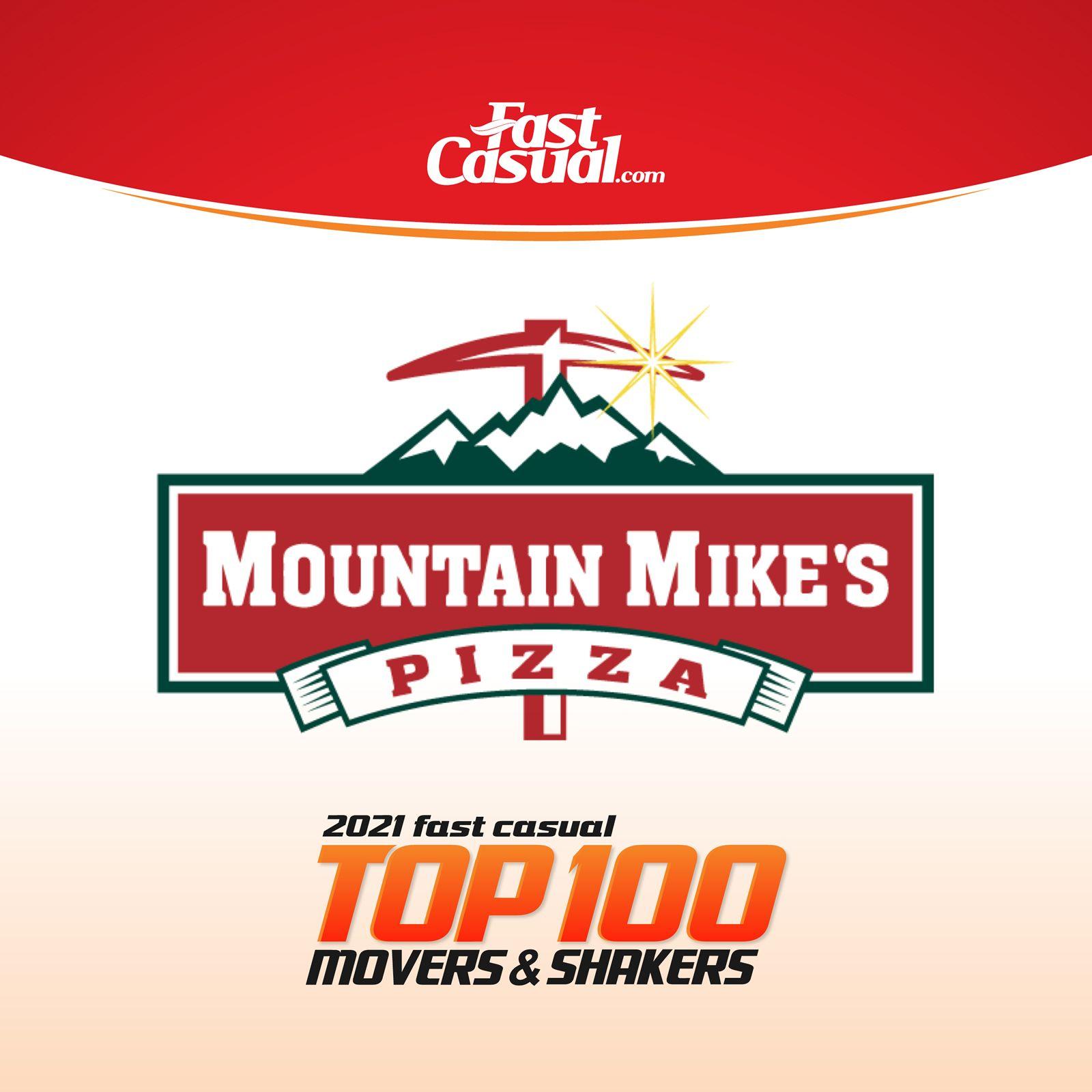 Mountain Mike's Pizza fait ses débuts à la 19e place du Top 100 des Movers & Shakers de Fast Casual