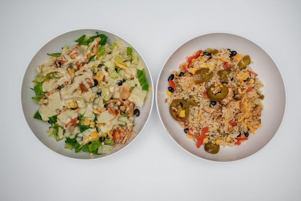 Salade barbecue et bol de burrito The Salad House Backyard