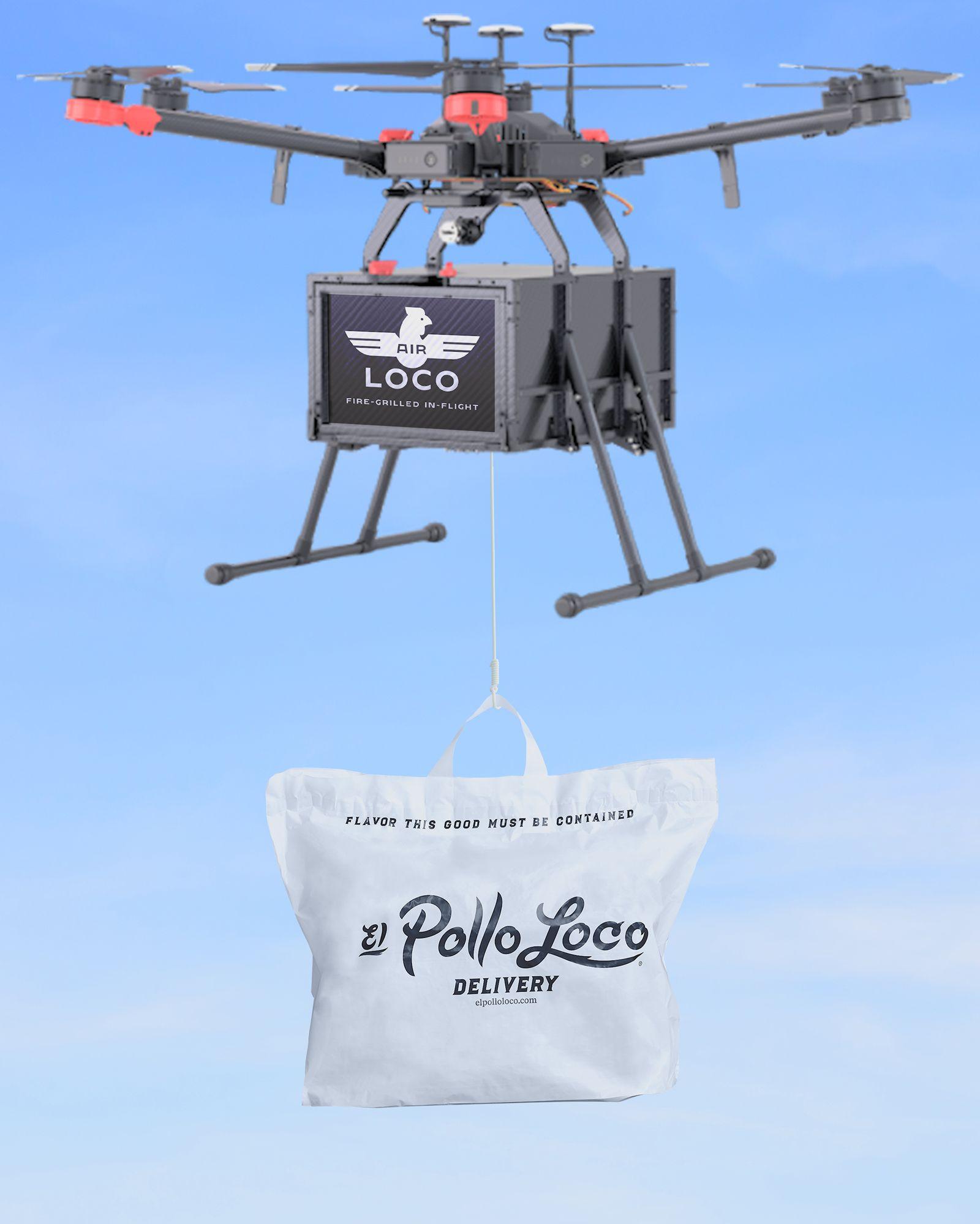 """El Pollo Loco lance le premier du genre """"Locomotive aérienne"""" Livraison de drones"""