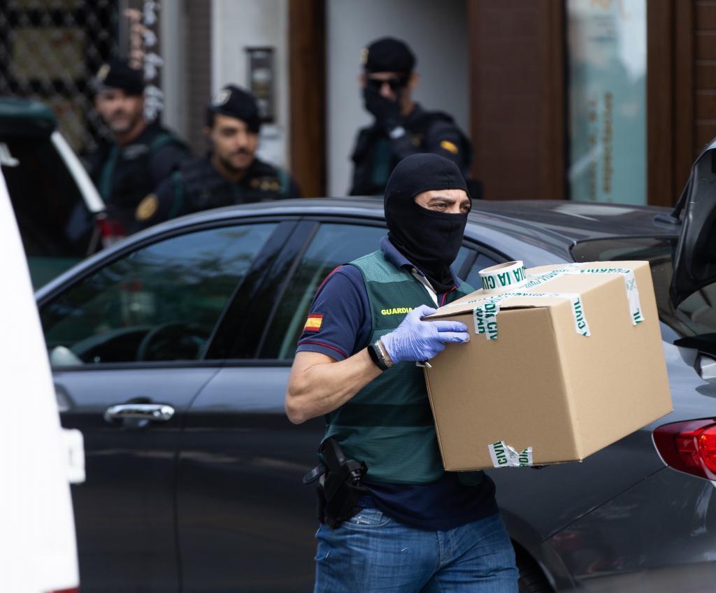Enregistrement à Sabadell après l'arrestation