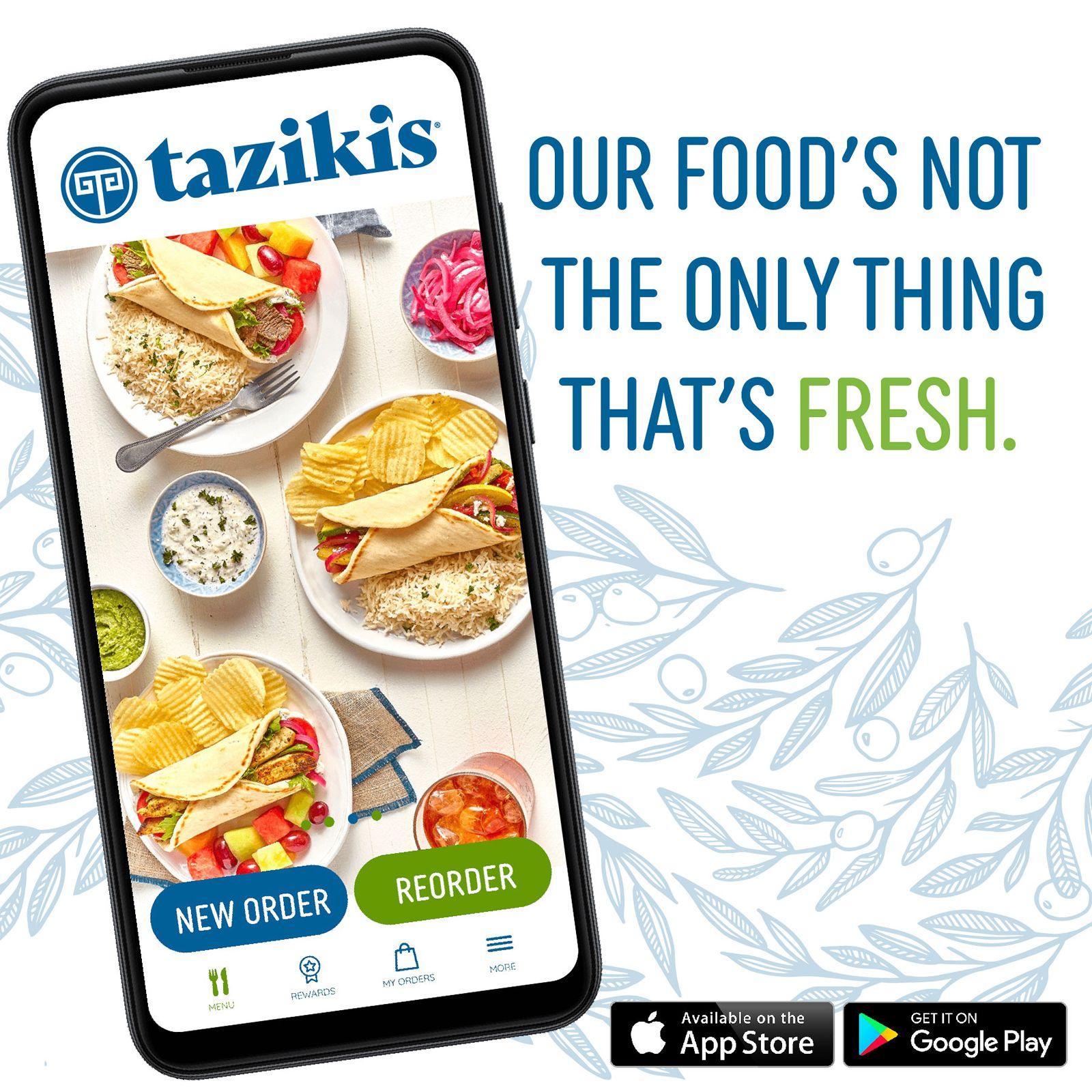 Le Café méditerranéen de Taziki dévoile une nouvelle application et une nouvelle plate-forme de commande en ligne améliorant l'expérience client