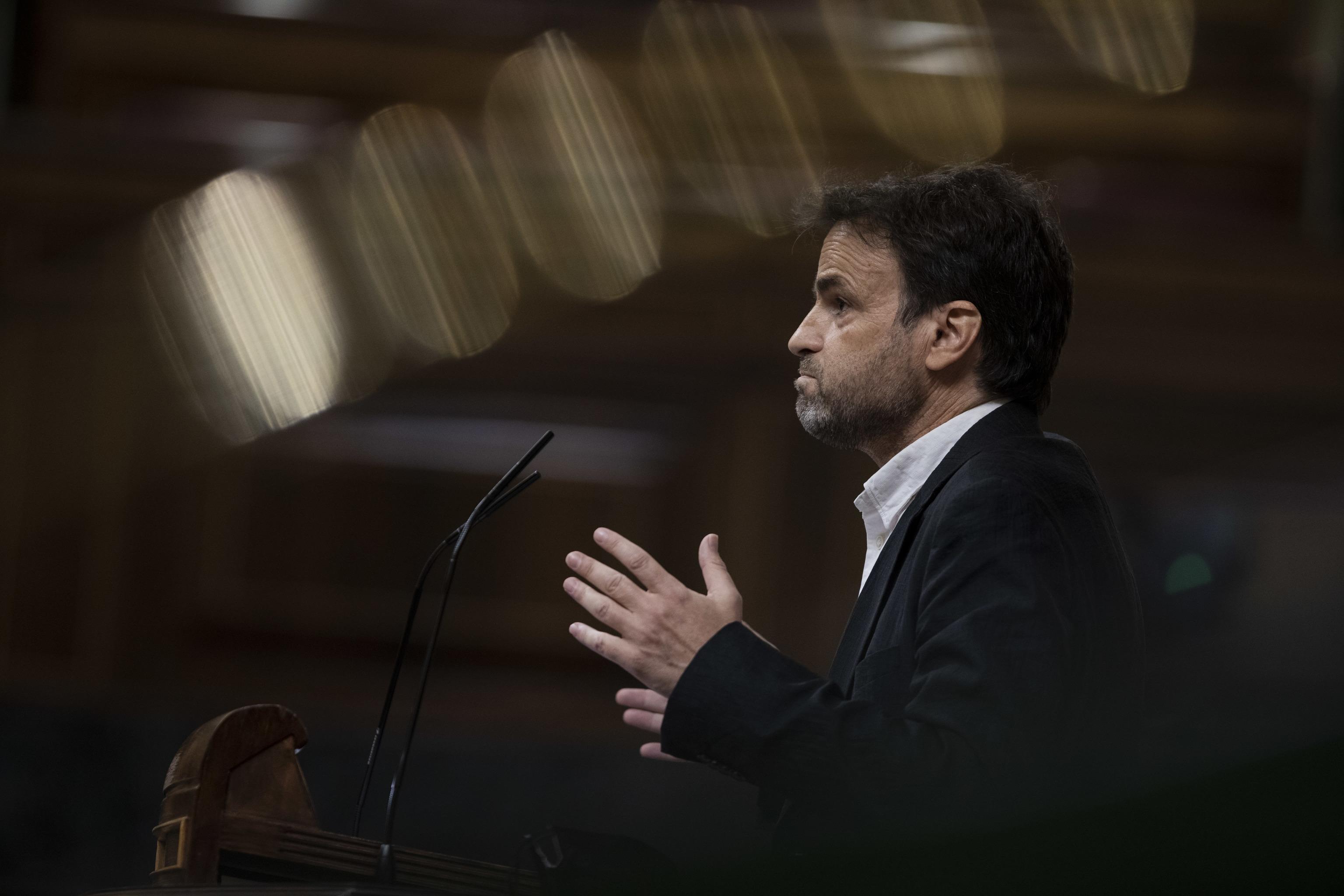 Jaume Asens (United We Can) défend son initiative au Congrès.