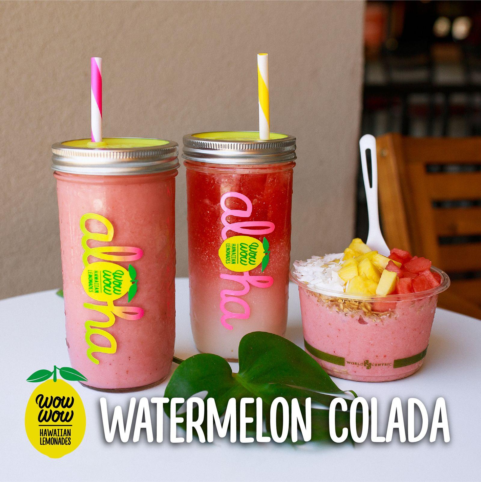 Wow Wow Hawaiian Lemonade lance un menu d'été comprenant des smoothies, des bols et des limonades à la pastèque Colada