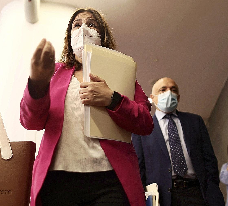 La secrétaire générale adjointe du PSOE, Adriana Lastra.