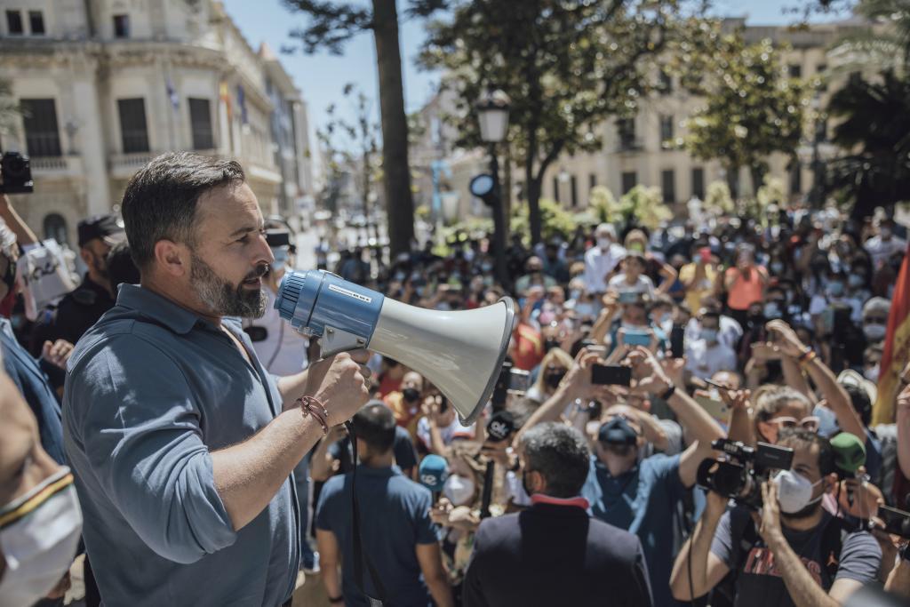 Santiago Abascal, lors de sa visite à Ceuta, en mai dernier.