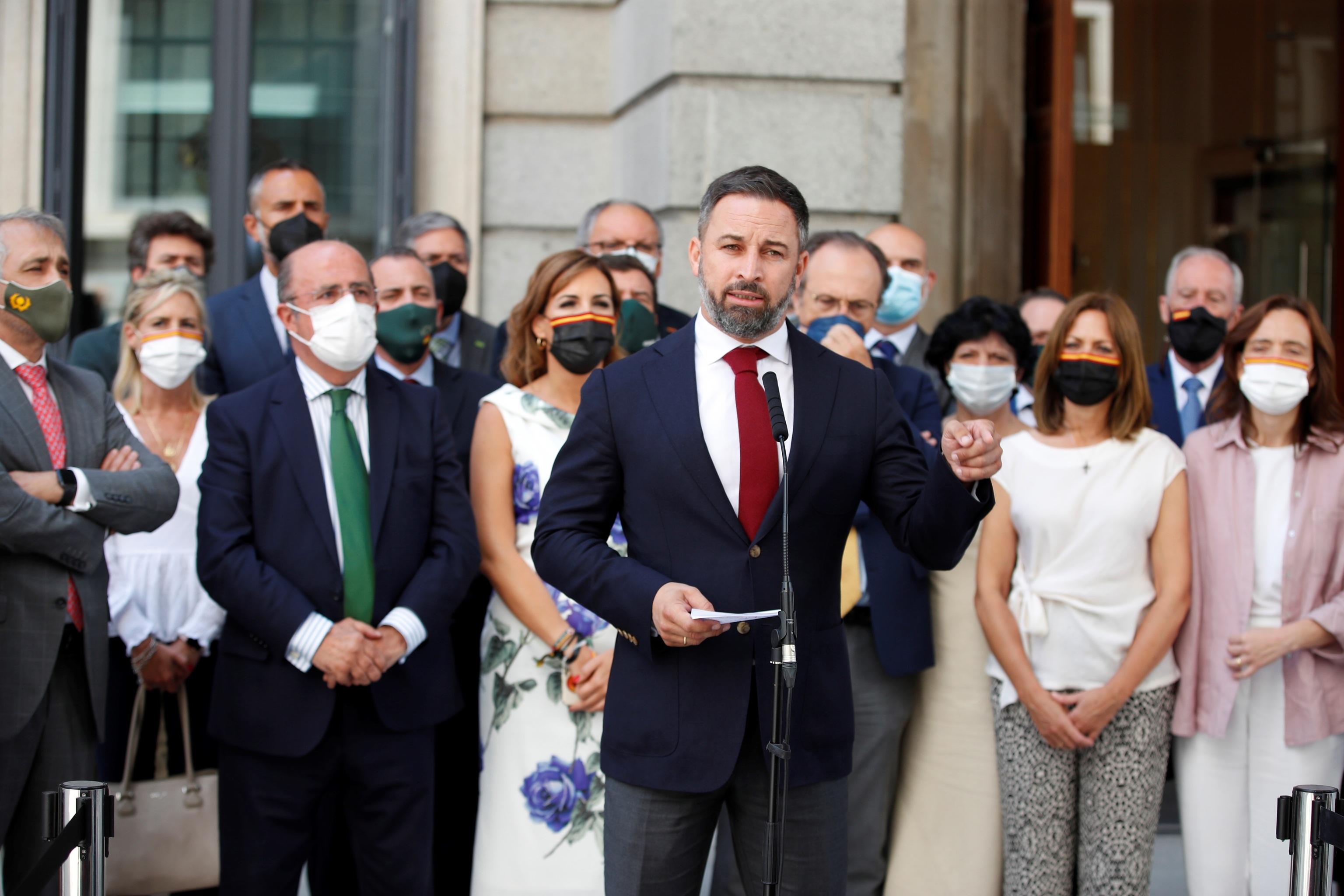 Le président de Vox, Santiago Abascal.