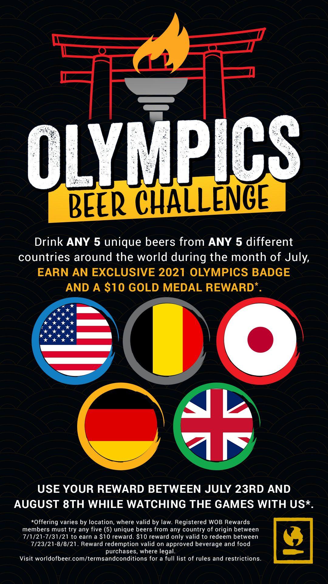 World of Beer célèbre le retour des Jeux Olympiques d'été