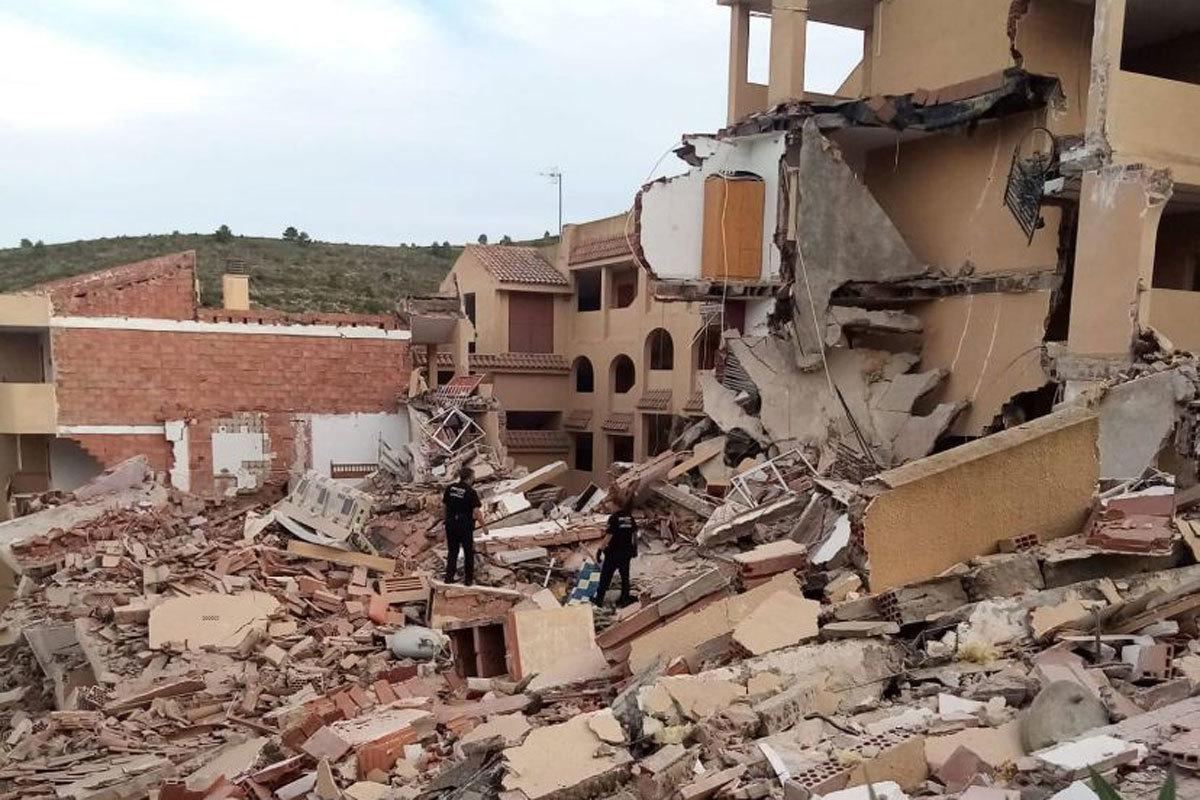 Le bâtiment qui s'est effondré à Pe