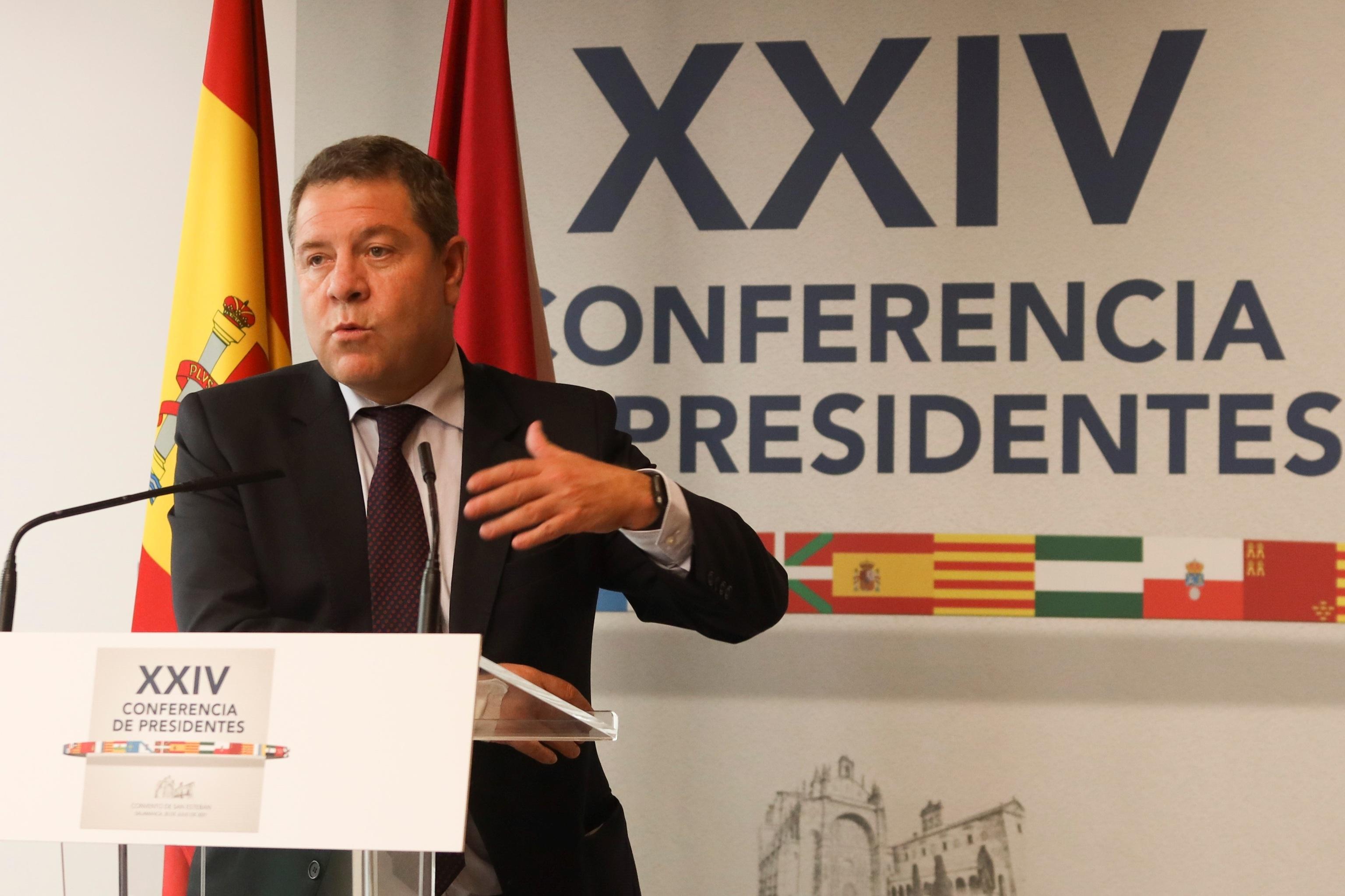 Le président de Castilla-La Mancha, Emiliano Garc