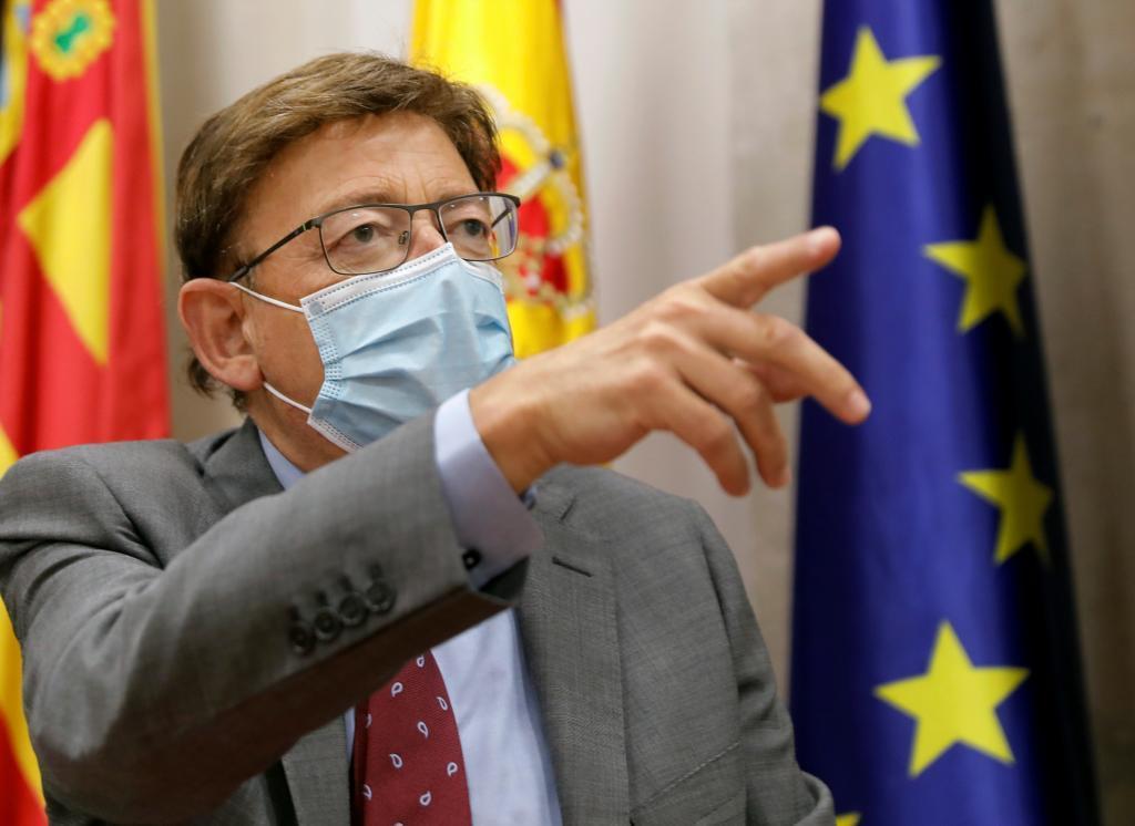 Le président de la Generalitat, Ximo Puig, dans une apparition ce mi