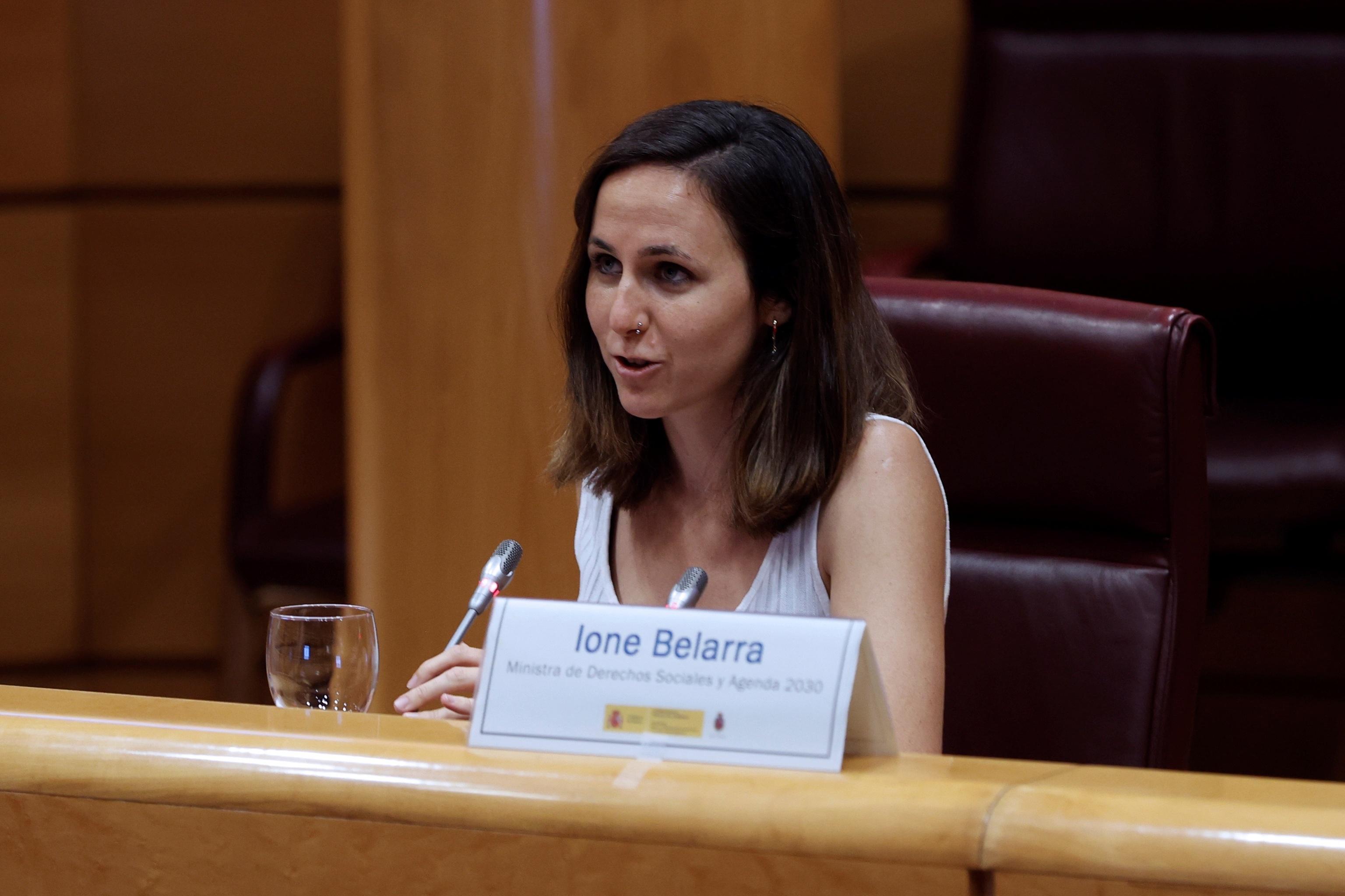 Le ministre des Droits sociaux et de l'Agenda 2030, Ione Belarra, ce mi