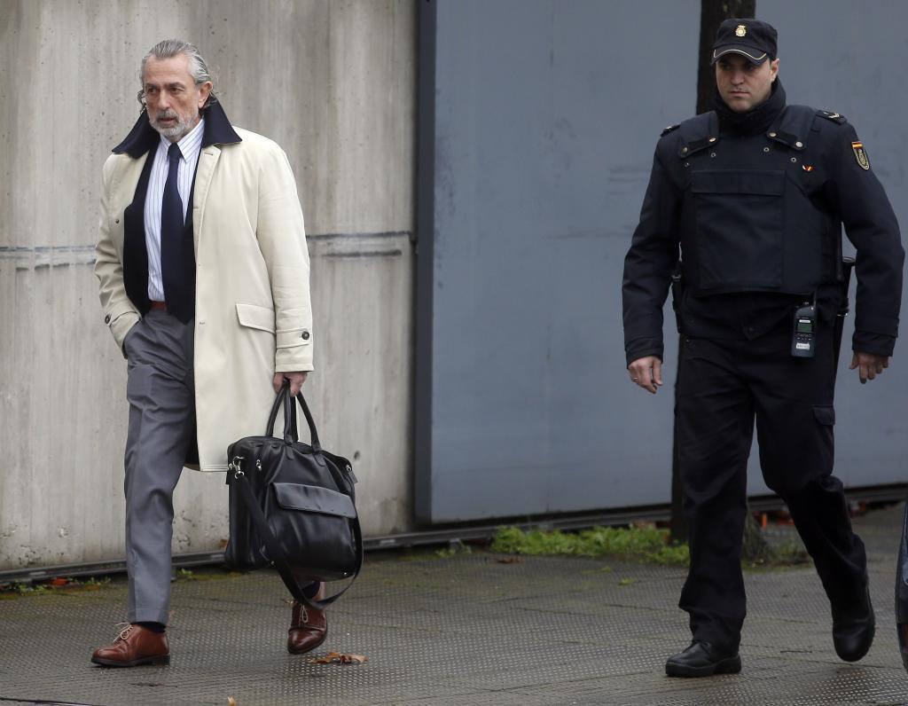 Francisco Correa, à son arrivée au procès pour la cause principale de l'affaire G
