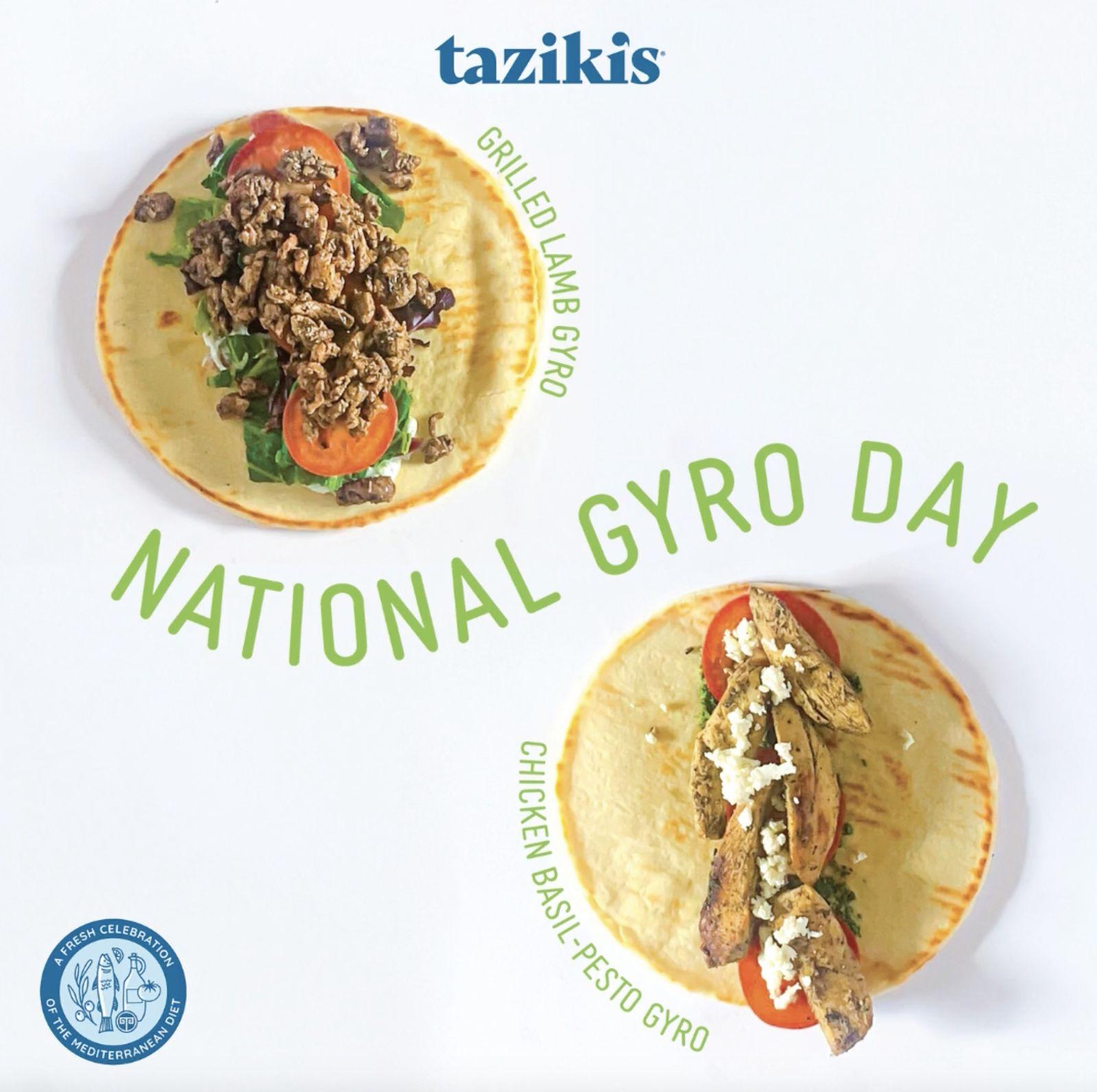 Le Café méditerranéen de Taziki célèbre la Journée nationale du gyroscope en encourageant les clients à voter en passant des commandes