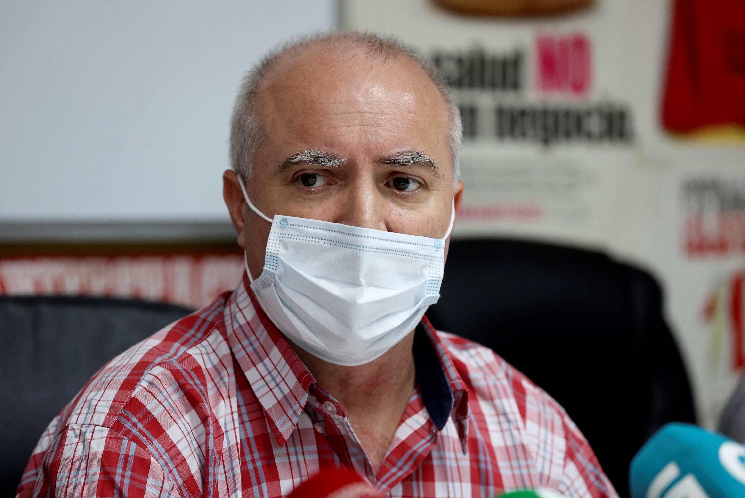 Pablo Costas lors de la conférence de presse de ce mi