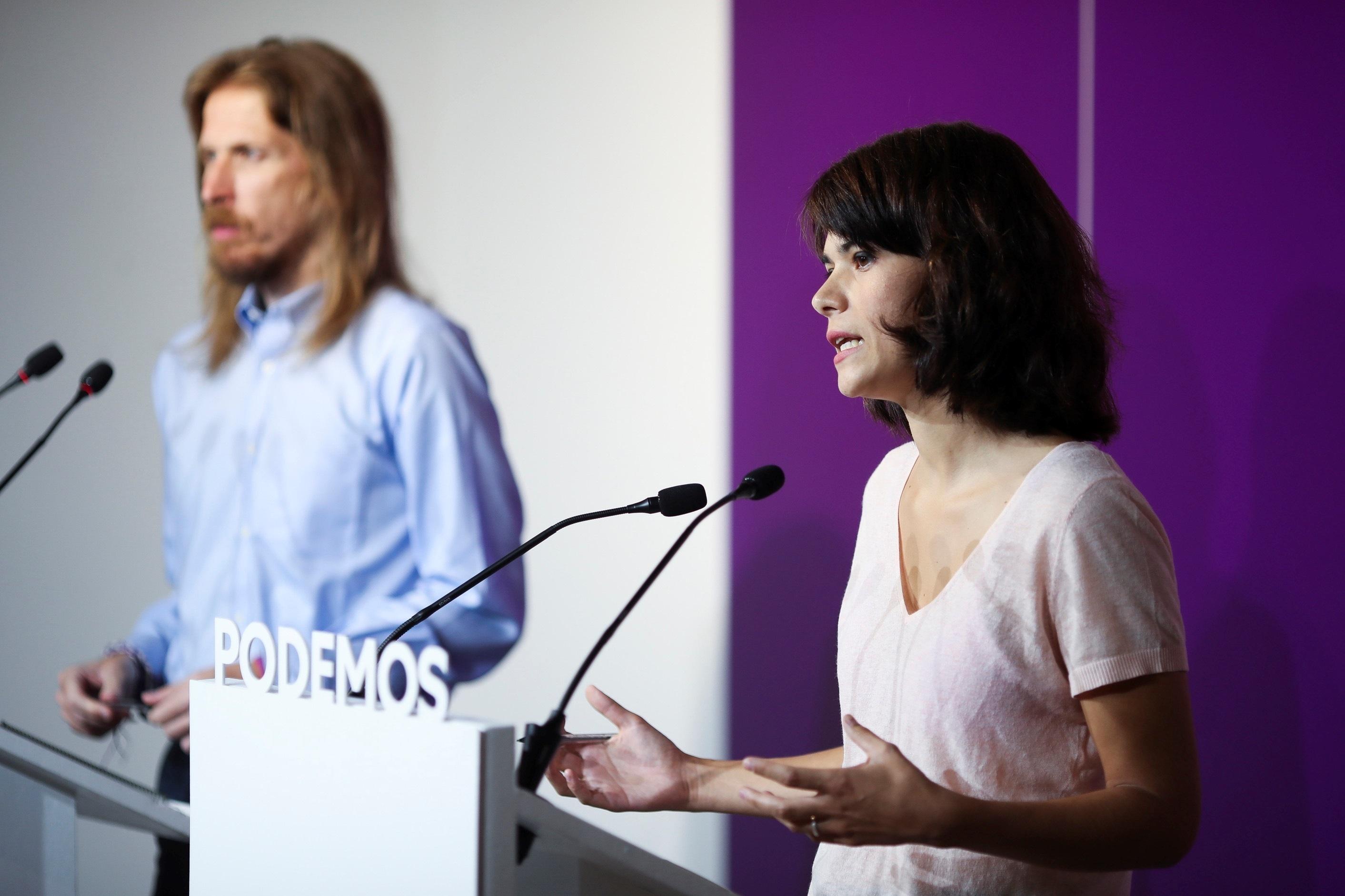 Le porte-parole national de Podemos, Pablo Fern