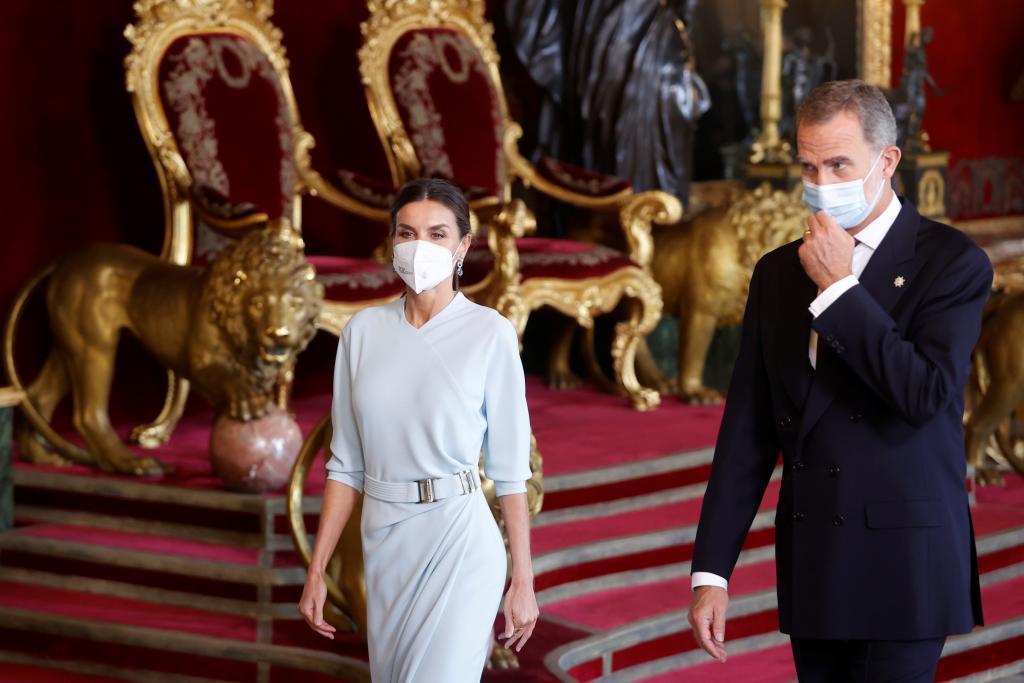 Les rois Felipe et Letizia, dans le Sal