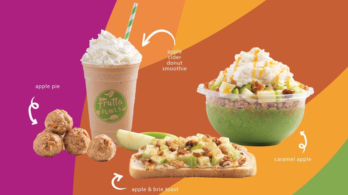 """Frutta Bowls célèbre la saison avec de nouvelles pommes épicées """"Légendes d'automne"""" Éléments de menu"""